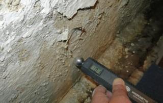 Kellerwandkorrosion durch aufsteigende Feuchte
